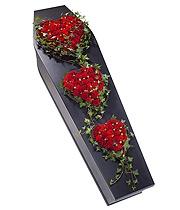 casket heart spray